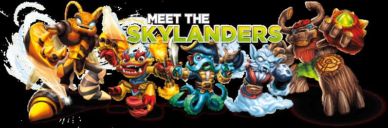 meet the skylanders banner